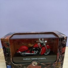 Motos a escala: INDIAN CHIEF (1947) ESCALA 1:32 NUEVO SIN USO EN SU CAJA. Lote 245087990