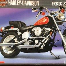 Motos a escala: MOTO HARLEY DAVIDSON ESCALA 1/9. Lote 257465685