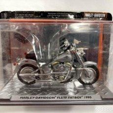 Motos a escala: 1:24 HARLEY DAVIDSON FLSTF FATBOY 1990 DIECAST MOTO USADO. Lote 257636340