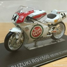 Motos a escala: MOTO IXO GRANDES MOTOS DE COMPETICIÓN - SUZUKI RGV 500 - KEVIN SCHWANTZ (1993). ESCALA 1/24. Lote 269627763