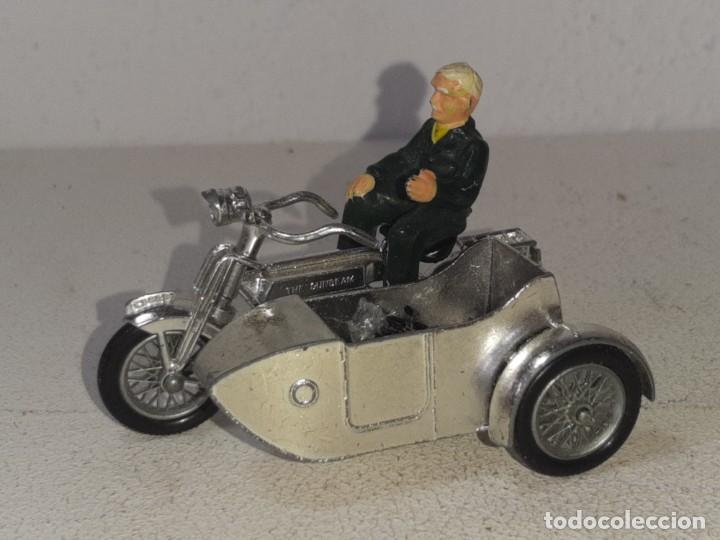 MATCHBOX LESNEY : ANTIGUA MOTO SIDECAR SUNBEAM 1917 - MODELS OF YESTERYEAR - MADE IN ENGLAND AÑOS 60 (Juguetes - Motos a Escala)