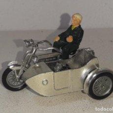 Motos a escala: MATCHBOX LESNEY : ANTIGUA MOTO SIDECAR SUNBEAM 1917 - MODELS OF YESTERYEAR - MADE IN ENGLAND AÑOS 60. Lote 262768340