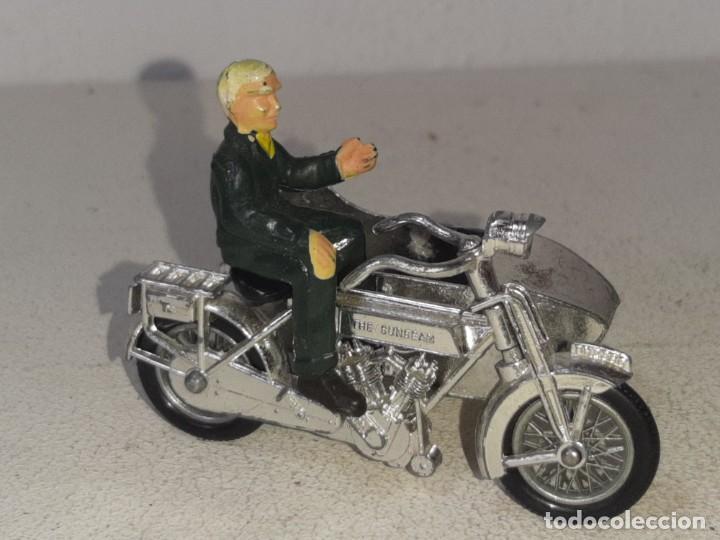 Motos a escala: MATCHBOX LESNEY : ANTIGUA MOTO SIDECAR SUNBEAM 1917 - MODELS OF YESTERYEAR - MADE IN ENGLAND AÑOS 60 - Foto 2 - 262768340
