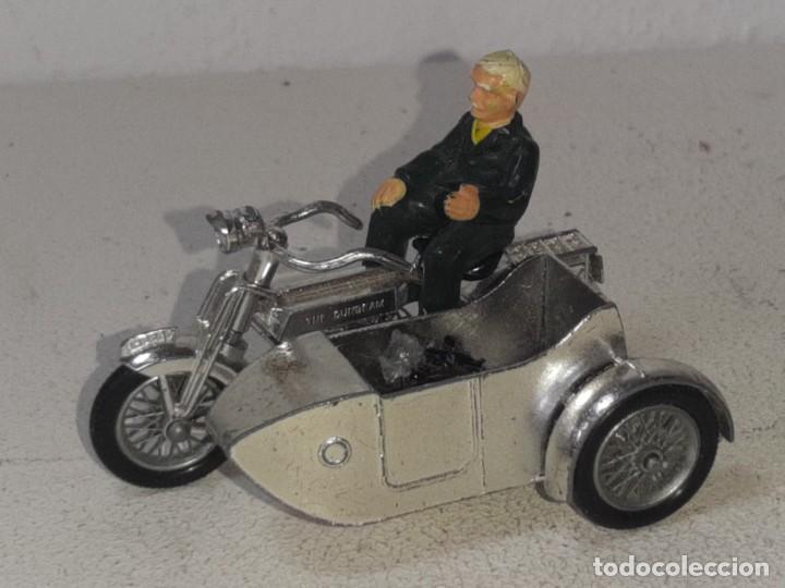 Motos a escala: MATCHBOX LESNEY : ANTIGUA MOTO SIDECAR SUNBEAM 1917 - MODELS OF YESTERYEAR - MADE IN ENGLAND AÑOS 60 - Foto 3 - 262768340