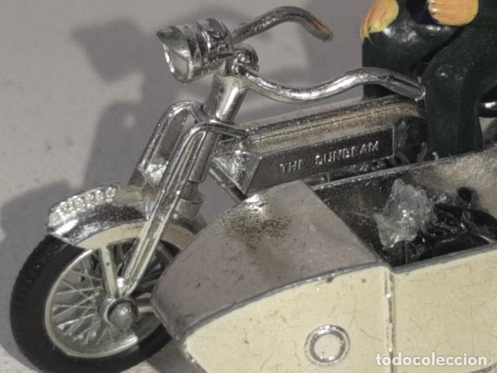 Motos a escala: MATCHBOX LESNEY : ANTIGUA MOTO SIDECAR SUNBEAM 1917 - MODELS OF YESTERYEAR - MADE IN ENGLAND AÑOS 60 - Foto 9 - 262768340