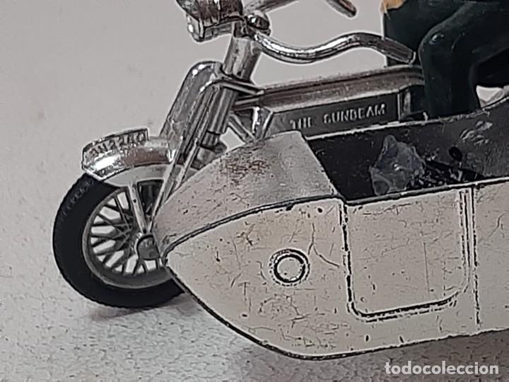 Motos a escala: MATCHBOX LESNEY : ANTIGUA MOTO SIDECAR SUNBEAM 1917 - MODELS OF YESTERYEAR - MADE IN ENGLAND AÑOS 60 - Foto 10 - 262768340