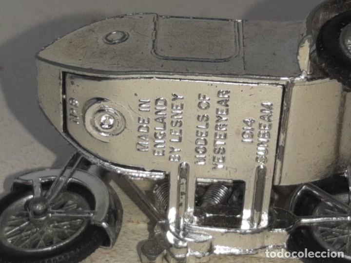 Motos a escala: MATCHBOX LESNEY : ANTIGUA MOTO SIDECAR SUNBEAM 1917 - MODELS OF YESTERYEAR - MADE IN ENGLAND AÑOS 60 - Foto 16 - 262768340