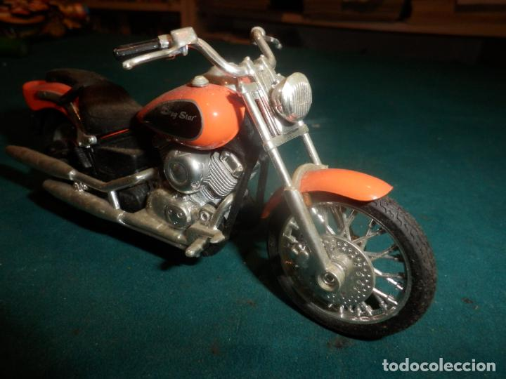 MOTO YAMAHA DRAG STAR - MOTOCICLETA COLOR NARANJA (Juguetes - Motos a Escala)