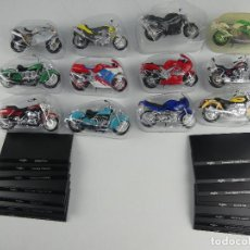 Motos in scale: COLECCION DE 12 MOTOS MAISTO. Lote 264302460