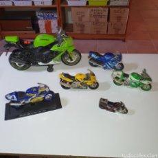 Motos a escala: 6 MOTOS DISTINTAS, LAS FOTOGRAFIADAS.. Lote 268120519