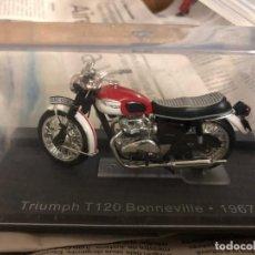 Motos a escala: VENDO TRIUMPH T120 BONNEVILLE 1967. Lote 274335948