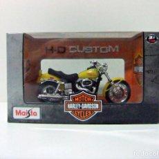 Motos a escala: HARLEY DAVIDSON 1977 FXS LOW RIDER - MAISTO H-D CUSTOM ESCALA 1:18 - MOTO MOTOCICLETA BIKE TOY. Lote 283380123
