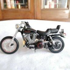 Motos à l'échelle: MAISTO 1/18 HARLEY DAVIDSON STURGIS FXDB 1991 METAL BUEN ESTADO. Lote 287331083