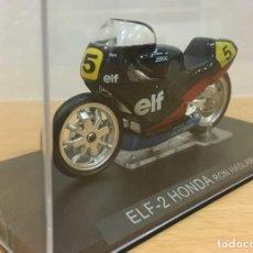 Motos a escala: MOTO IXO GRANDES MOTOS DE COMPETICIÓN - ELF-2 HONDA - RON HASLAM (1985). ESCALA 1/24. Lote 288105828