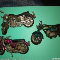 Motos in scale: TRES MOTOS ANTIGUAS METAL MUY BUEN ESTADO. Lote 289458688