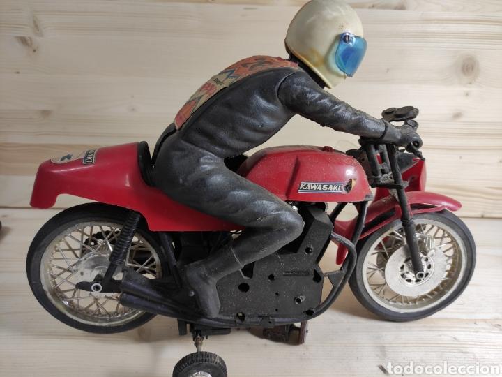 Motos a escala: Moto juguete Payá Kawasaki para repuesto - Foto 13 - 289838803