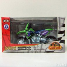 Motos a escala: MOTO KAWASAKI #3 MOTOCROSS GUISVAL MINI BOX ESCALA 1:29 MINIBOX JUGUETE TOY BIKE Nº 3 VERDE GREEN. Lote 289894718
