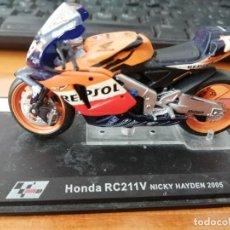 Motos a escala: HONDA RC211V NICKY HAYDEN TAL COMO SE VE. Lote 293715473