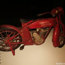Motos a escala: MOTO ANTIGUA HIERRO HARLEY DAVIDSON 30 CM OFERTAS NO. Lote 294025133