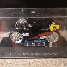 Motos a escala: ELF-2 HONDA, RON HASLAM, 1985 MOTO ESCALA 1:24. Lote 295376048