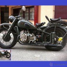 Motos: HISTORICA MOTO CON SIDECAR (IMZ-M72) COMPLETAMENTE ORIGINAL FUNCIONANDO -SOLO TRES MATRICULADAS.. Lote 49662572