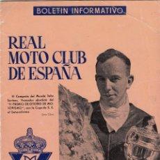 REVISTA REAL MOTO CLUB DE ESPAÑA Nº 116 AÑO 1959.