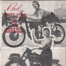 REVISTA REAL MOTO CLUB DE ESPAÑA. Nº 80 AÑO 1957.