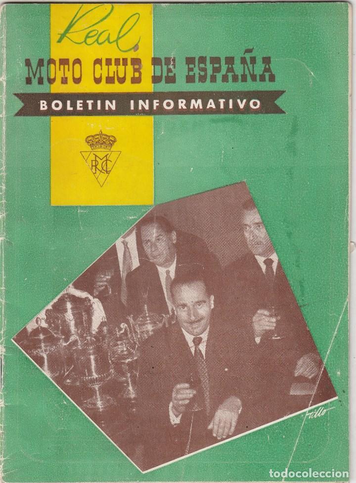 REVISTA REAL MOTO CLUB DE ESPAÑA Nº 73 AÑOP 1956. (Coches y Motocicletas - Motocicletas Antiguas (hasta 1.939))
