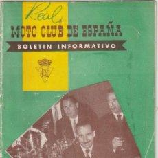 Motos: REVISTA REAL MOTO CLUR DE ESPAÑA Nº 73 AÑOP 1956. . Lote 81131604