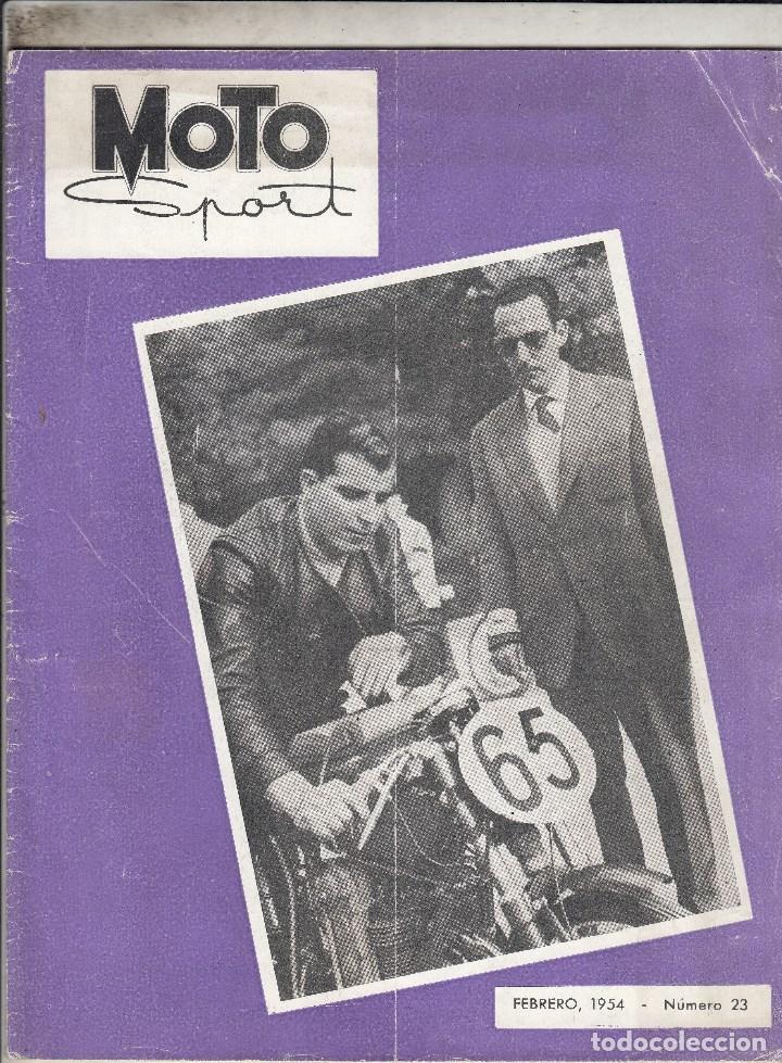 REVISTA MOTO SPORT Nº 23 AÑO 1954. (Coches y Motocicletas - Motocicletas Antiguas (hasta 1.939))