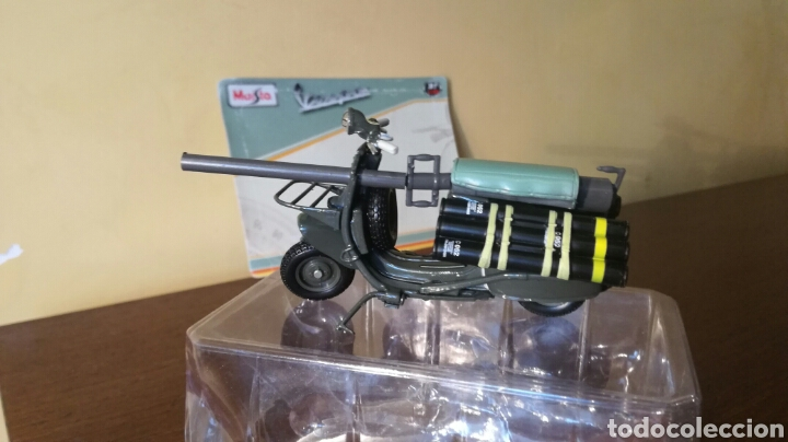 Motos: Vespa militar TAP bazuca miniatura a escala de Maisto - Foto 2 - 93291334
