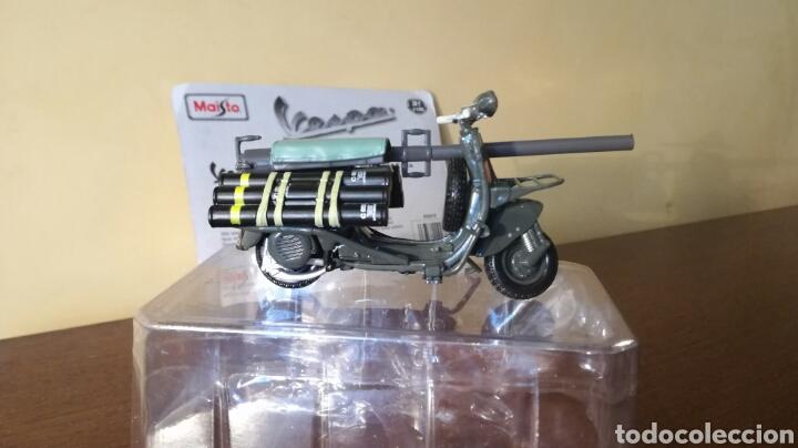 Motos: Vespa militar TAP bazuca miniatura a escala de Maisto - Foto 4 - 93291334