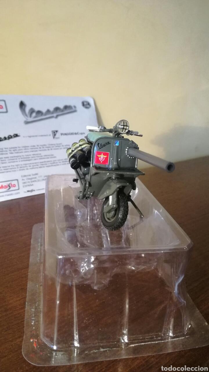 Motos: Vespa militar TAP bazuca miniatura a escala de Maisto - Foto 5 - 93291334