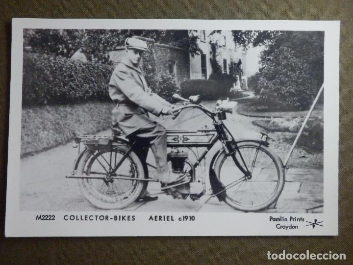 POSTAL - MOTOCICLETAS - COLECTOR BIKES - AERIEL C 1910 - M2222 - PAMLIN PRINTS CROYDON - NE-NC (Coches y Motocicletas - Motocicletas Antiguas (hasta 1.939))