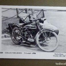 Motos: POSTAL - MOTOCICLETAS - COLECTOR BIKES - TRIUMPH C 1926 - M2220 - PAMLIN PRINTS CROYDON - NE-NC. Lote 95782631