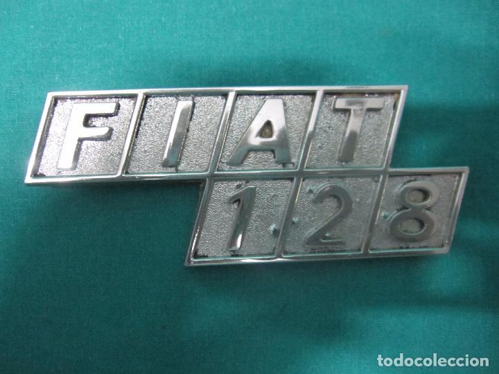 ANTIGUO LOGOTIPO VEHICULO FIAT 128 LOTE Nº 1 (Coches y Motocicletas - Motocicletas Antiguas (hasta 1.939))