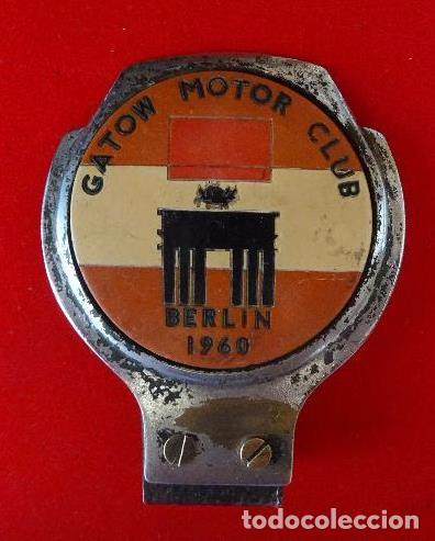 DISTINTIVO PARA MOTO O COCHE CLUB BERLIN, AÑO 1961 (Coches y Motocicletas - Motocicletas Antiguas (hasta 1.939))