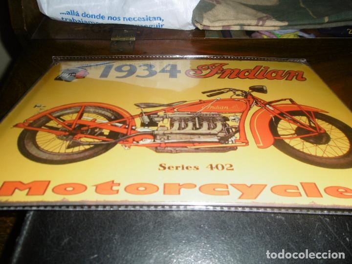 MUY BONITA CHAPA MOTOCICLETA INDIAN (Coches y Motocicletas - Motocicletas Antiguas (hasta 1.939))