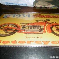 Motos: MUY BONITA CHAPA MOTOCICLETA INDIAN. Lote 101926539