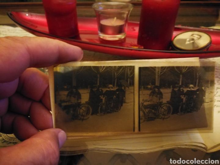Motos: Fotografia estereoscopica de mostos de los años 20-30 en cristal - Foto 2 - 102018902