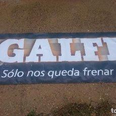 Motos: PANCARTA ORIGINAL FRENOS PASTILLAS GALFER . Lote 124281447