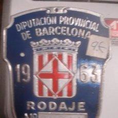 Motos: MATRICULA PARA BICICLETA 1963 - PORTAL DEL COL·LECCIONISTA *****. Lote 136482238