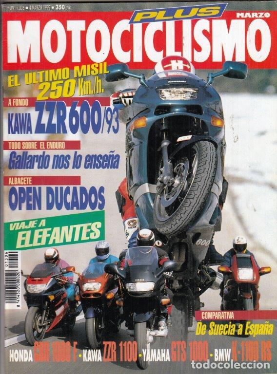 REVISTA MOTOCICLISMO Nº 1306 AÑO 1993. PRU: KAWASAKI ZZR 600. COMP: BMW K 1100 RS, HONDA CBR 1000 F (Coches y Motocicletas - Motocicletas Antiguas (hasta 1.939))