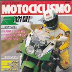 Motos: REVISTA MOTOCICLISMO Nº 1197 AÑO 1991. PRUEBA: KAWASAKI ZXR 750 Y KAWASAKI ZRX 750 R. YAMAHA YZR 250. Lote 151813798