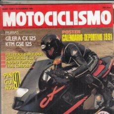 Motos: REVISTA MOTOCICLSIMO Nº 1199 AÑO 1991. PRUEBA: CILERA CX 125. YAMAHA. KTM 125 EGS. . Lote 151814878