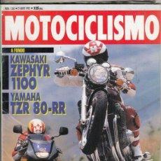 Motos: REVISTA MOTOCICLISMO Nº 1265 AÑO 1992. PRUEBA: KAWASAKI ZEPHYR 1100. YAMAHA TZR 80 RR.. Lote 151819258