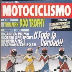 Motos: REVISTA MOTOCICLISMO Nº 1268 AÑO 1992. PRUEBA: TRIUMPH 900 TROPHY. COMP: YAMAHA TZR 80 RR,. Lote 151819970
