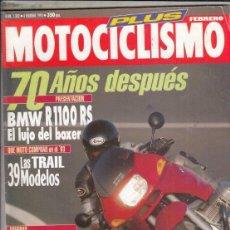 Motos: REVISTA MOTOCCICLISMO Nº 1302 AÑO 1993. PRU: HARLEY DAVIDSON DYNA LOW RIDER. CONT: TRIUMPH DAYTONA. . Lote 151822258