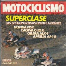 Motos: REVISTA MOTOCICLISMO Nº 1115 AÑO 1989. COMP: APRILIA AF 1 125, REPLICA, HONDA NSR 125, CAGIVA C 12 R. Lote 151824674