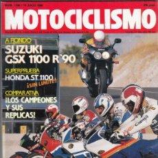 Motos: REVISTA MOTOCICLISMO Nº 1169 AÑO 1990. PRUEBA: SUZUKI GSX 1000 R,. HONDA ST 1100 PAN-EUROPEAN.. Lote 151830138
